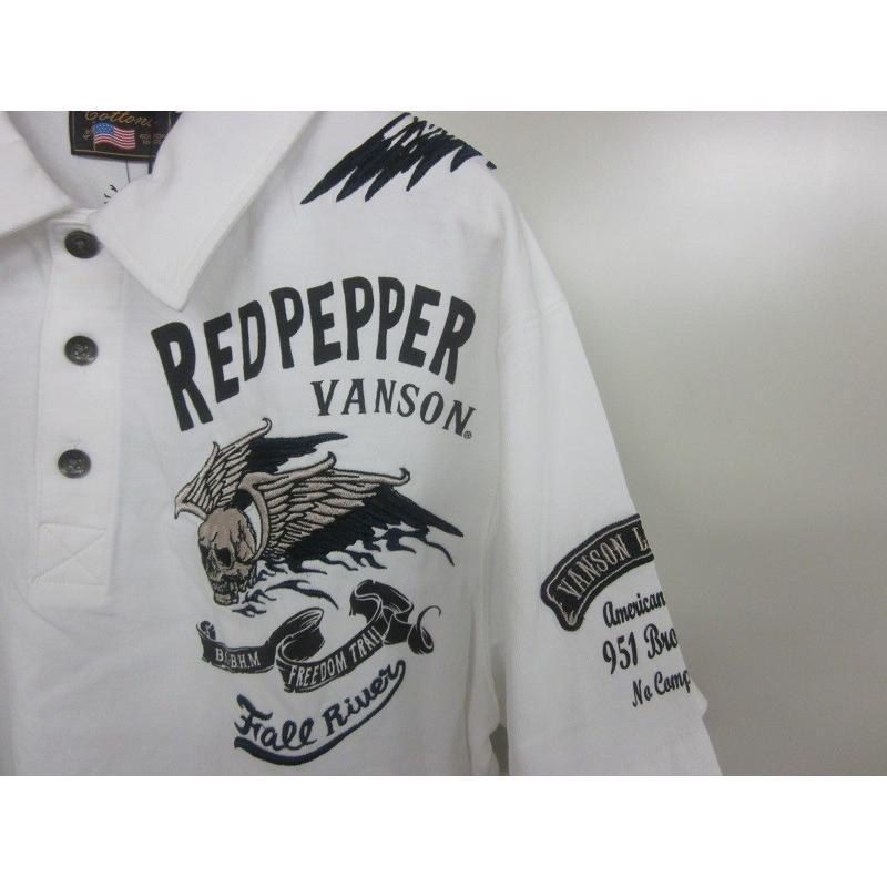 レッドペッパー×バンソンコラボメンズポロシャツ51ME-07|dmzfree|03