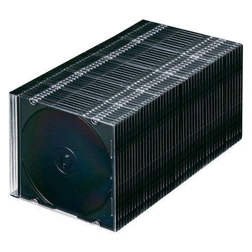 「対象メディアと同時購入で安い!」「メディアケース」SANWASUPPLY(サンワサプライ) 5mm厚のスリムDVDケース 50枚セット ブラック (FCD-PU50MBKN) do-mu