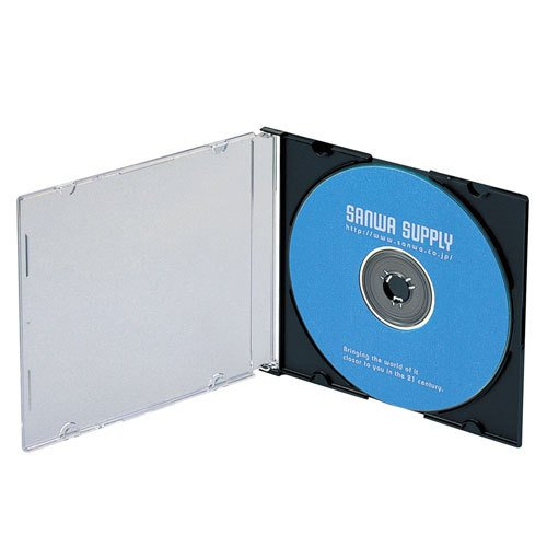 「対象メディアと同時購入で安い!」「メディアケース」SANWASUPPLY(サンワサプライ) 5mm厚のスリムDVDケース 50枚セット ブラック (FCD-PU50MBKN) do-mu 02