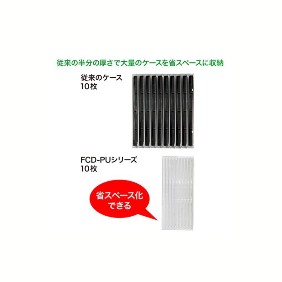「対象メディアと同時購入で安い!」「メディアケース」SANWASUPPLY(サンワサプライ) 5mm厚のスリムDVDケース 50枚セット ブラック (FCD-PU50MBKN) do-mu 04