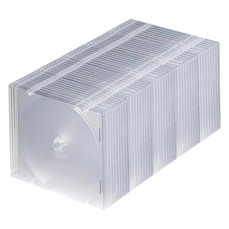 [対象メディアと同時購入で安い!] [メディアケース] HIDISC(ハイディスク) 5mm厚のスリムDVDケース 50枚セット クリア (ML-CD05S50PCR) do-mu