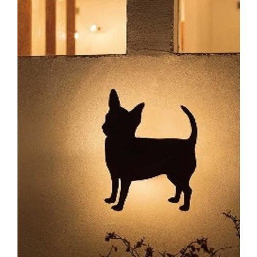 デコウォールライト チワワ LED 室外灯 壁面 動物 灯り 照明 アニマル 店舗 ウエルカムライト GYOG254 648 YT-206