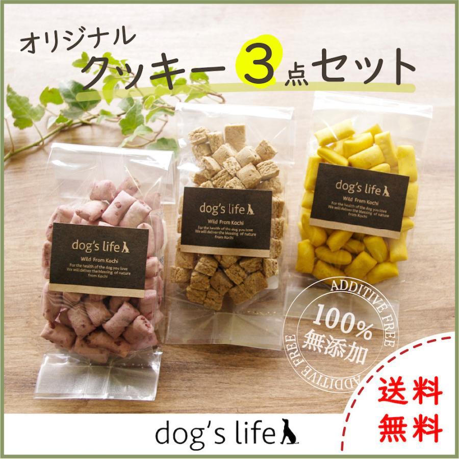 犬用 オリジナル クッキー3点セット おやつ 無添加 国産 ポイント消化 送料無料|dogslife
