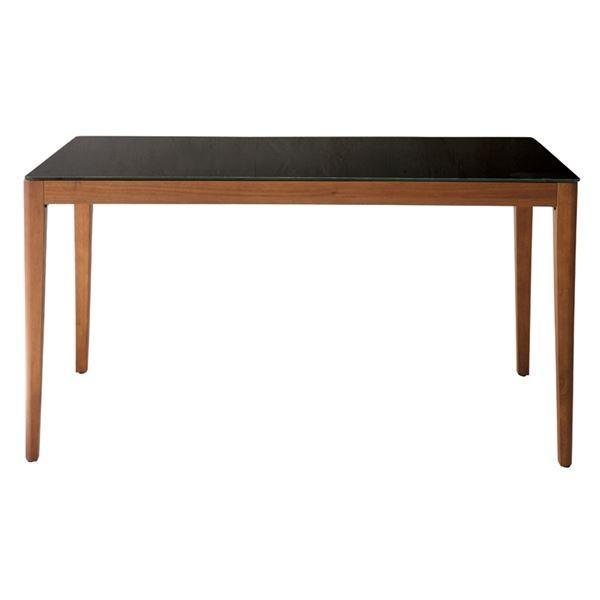 あずま工芸 ダイニングテーブル 幅135cmガラス天板 ダークブラウン〔2梱包〕 GDT-7670