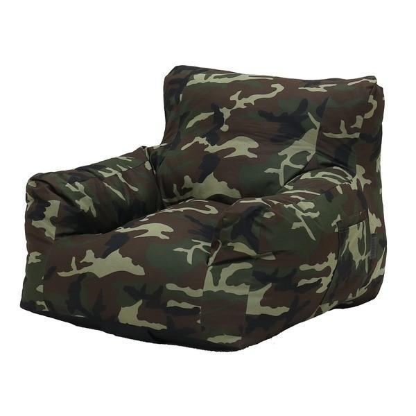 圧縮ウレタンソファ〔LIBREST-1P-〕(リブレスト)〔1人掛け〕 ローソファ 座椅子 カモフラージュ カモフラージュ