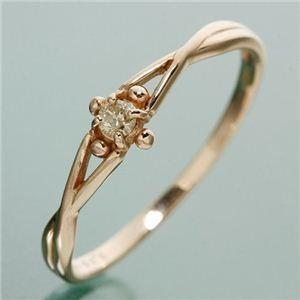 【メール便不可】 K18PG ダイヤリング 指輪 デザインリング 19号, 【国内発送】 4d591dff