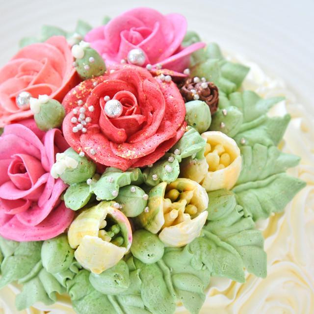誕生日 記念日 特別 高級 スイーツ ギフト 送料無料 おしゃれ バラ マダムヒトミのフラワーケーキ フィレンツェ15cm(冷凍)|dolcediroccacarino|02