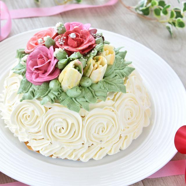 誕生日 記念日 特別 高級 スイーツ ギフト 送料無料 おしゃれ バラ マダムヒトミのフラワーケーキ フィレンツェ15cm(冷凍)|dolcediroccacarino|03