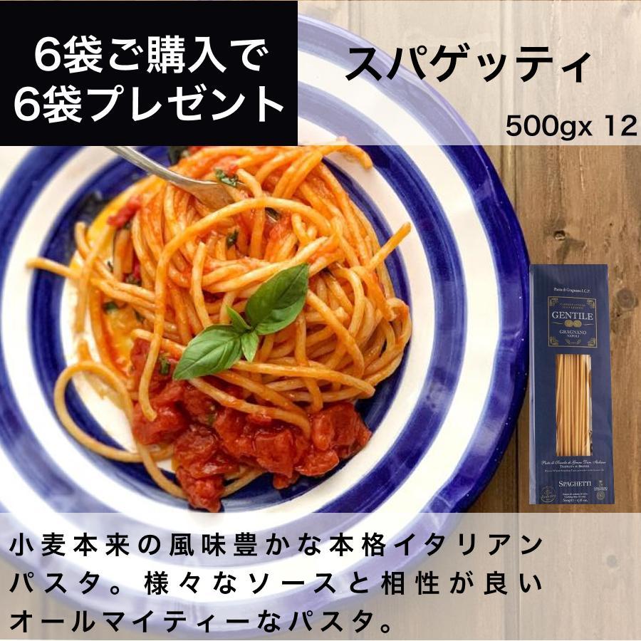 スパゲッティ φ2.2mm 500g 12袋 6kg Gentile ジェンティーレ イタリア直輸入 パスタ 茹で時間12分 業務用 dolcevita-kagurazaka