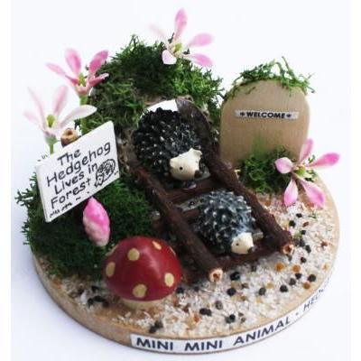ビリーの手作りドールハウスキット ハリネズミ 子供 夏休み工作キット ミニチュア doll-kamisugiya 02