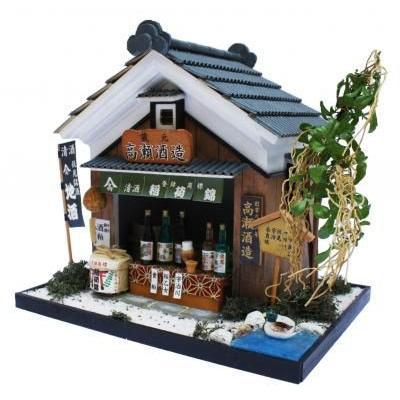 ビリーの手作りドールハウスキット 伏見の酒蔵 子供 夏休み工作キット ミニチュア|doll-kamisugiya|02