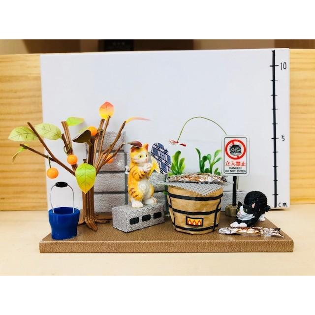 にゃんこのミニチュアライフコレクション  ごちそうタイム ねこ 夏休みの宿題 工作 自由研究 初級 ビリー 新作|doll-kamisugiya|05