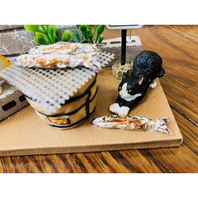 にゃんこのミニチュアライフコレクション  ごちそうタイム ねこ 夏休みの宿題 工作 自由研究 初級 ビリー 新作|doll-kamisugiya|07