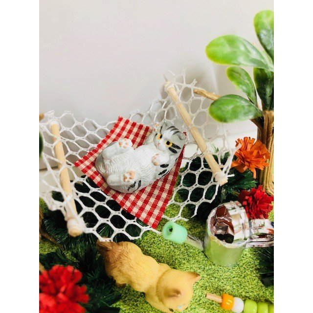 にゃんこのミニチュアライフコレクション くつろぎタイム ねこ 夏休みの宿題 工作 自由研究 初級 ビリー doll-kamisugiya 05