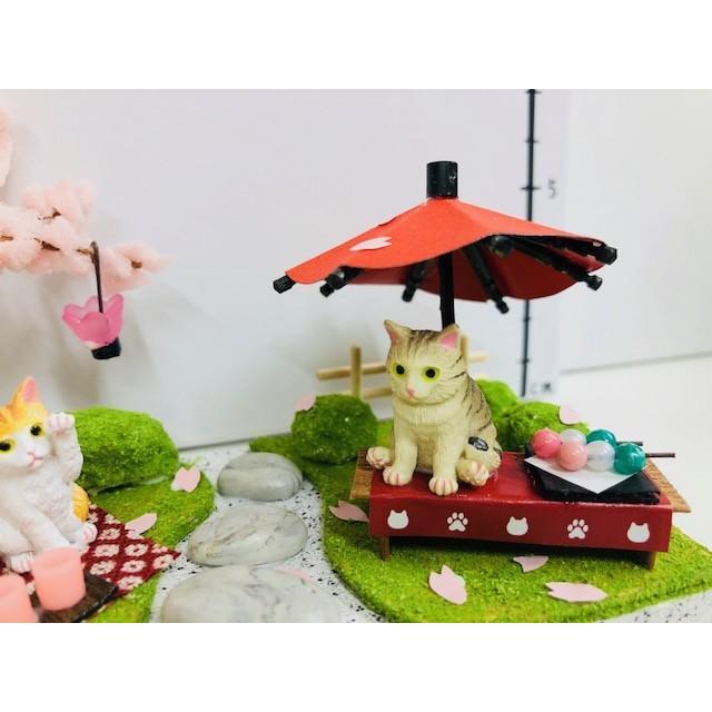 にゃんこのミニチュアライフコレクション おはなみタイム ねこ 夏休みの宿題 工作 自由研究 初級 ビリー|doll-kamisugiya|05