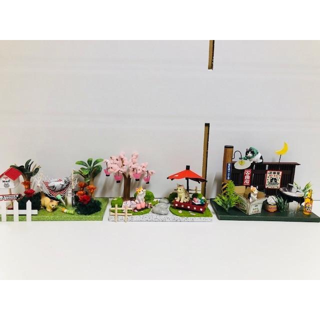 にゃんこのミニチュアライフコレクション おはなみタイム ねこ 夏休みの宿題 工作 自由研究 初級 ビリー|doll-kamisugiya|06