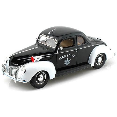 Maisto (マイスト) 1939 Ford (フォード) Deluxe Police 1/18 MA31366 ミニカー ダイキャスト 自動車