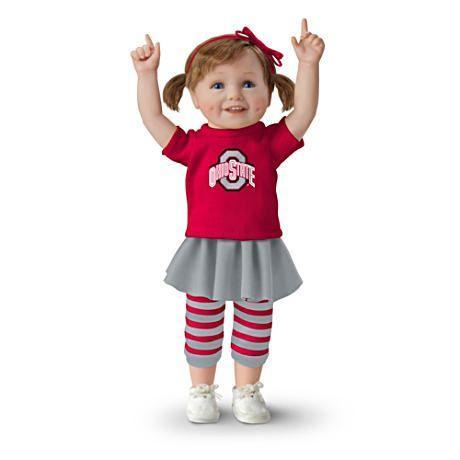 【アシュトンドレイク】Officially Licensed Ohio State Buckeyes Fan Girl D/赤ちゃん人形/ベビードール