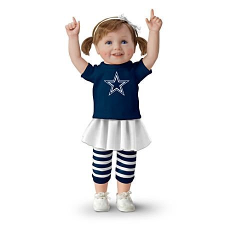 【アシュトンドレイク】NFL-Licensed Dallas Cowboys Fan Girl Doll/赤ちゃん人形/ベビードール