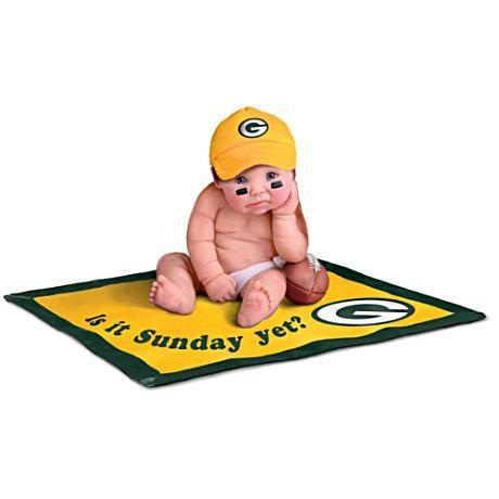 【アシュトンドレイク】NFL Licensed 緑 Bay Packers Baby Doll Collectio/赤ちゃん人形/ベビードール