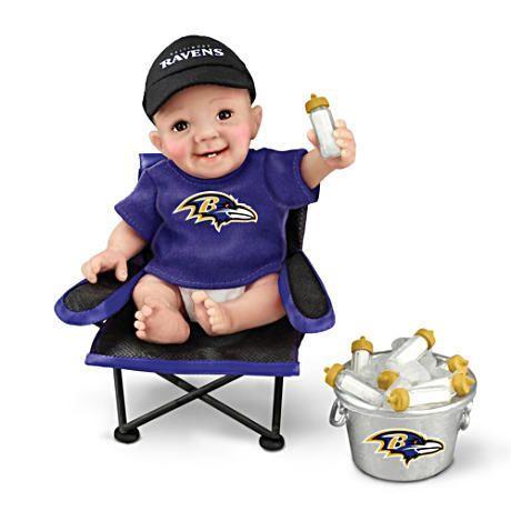 【アシュトンドレイク】Baltimore Ravens ★Tailgatin' Tots★ Fan Doll Coll/赤ちゃん人形/ベビードール