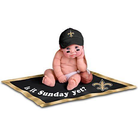 【アシュトンドレイク】NFL Licensed New Orleans Saints Baby Doll Collecti/赤ちゃん人形/ベビードール