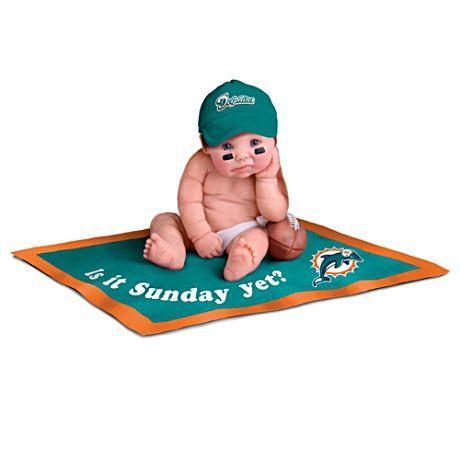 【アシュトンドレイク】NFL Licensed Miami Dolphins #1 Fan Baby Doll Colle/赤ちゃん人形/ベビードール