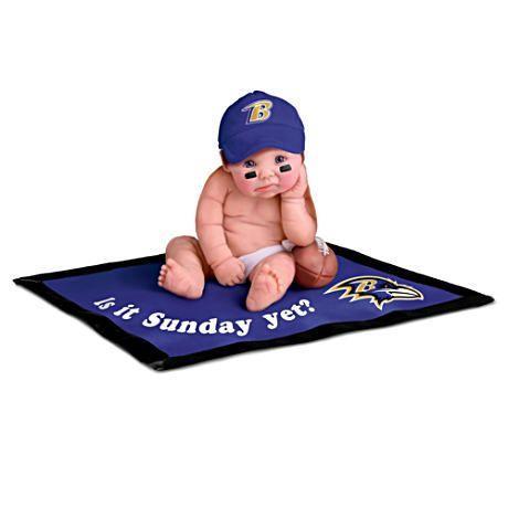【アシュトンドレイク】NFL Licensed Baltimore Ravens #1 Fan Baby Doll Col/赤ちゃん人形/ベビードール