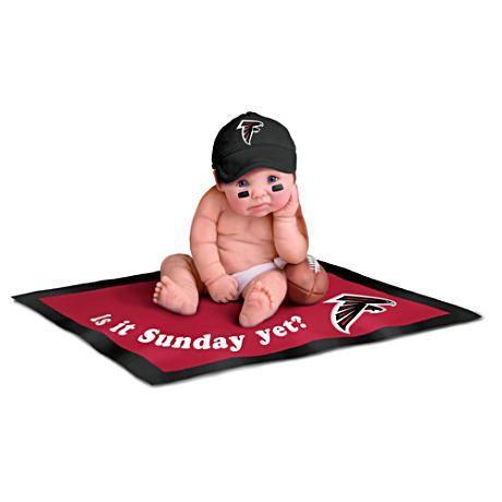 【アシュトンドレイク】Atlanta Falcons Fan Baby Doll Collection/赤ちゃん人形/ベビードール