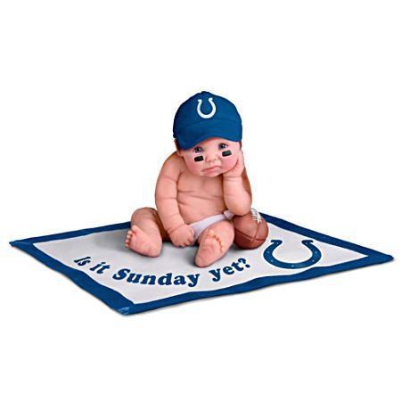 【アシュトンドレイク】NFL Licensed Indianapolis Colts Baby Doll Collecti/赤ちゃん人形/ベビードール