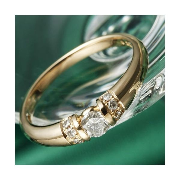 超大特価 K18PG/0.28ctダイヤリング 指輪 21号, 佐賀県有田町 c4a0bd2c