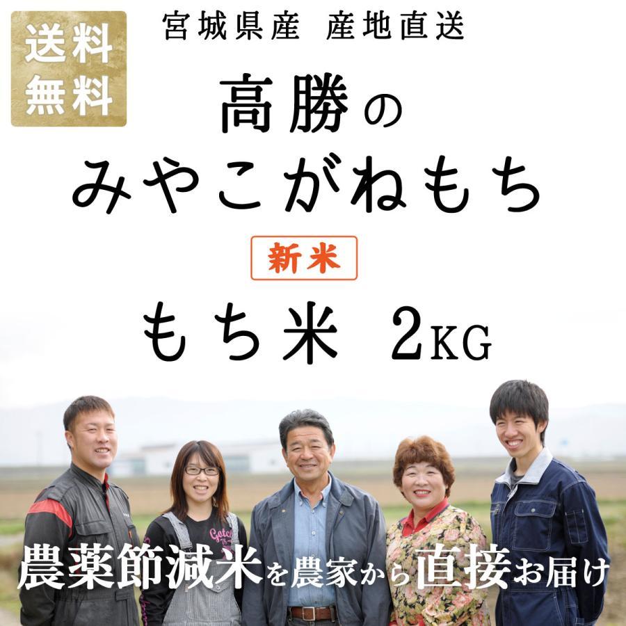 減農薬有機肥料使用 高勝のみやこがねもち 令和2年産 もち米 宮城県桃生町産 白米 2kg 送料無料 donbyaku