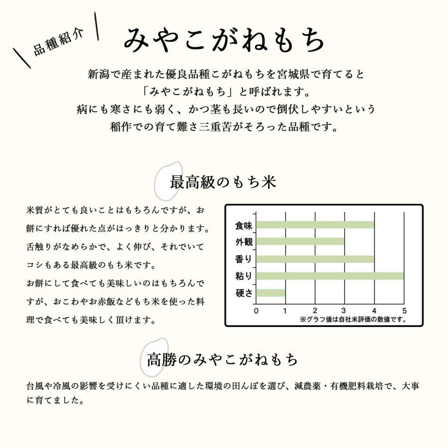 減農薬有機肥料使用 高勝のみやこがねもち 令和2年産 もち米 宮城県桃生町産 白米 2kg 送料無料 donbyaku 05