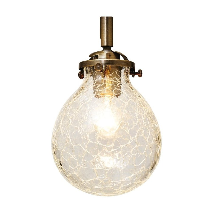 INTERFORM インターフォルム ブラケットライト マルヴェル-BS- 小形LED電球 電球色 電球色 1つ付 ひびガラス LT-2460CR (新生活応援 おしゃれ 北欧 ledライト)
