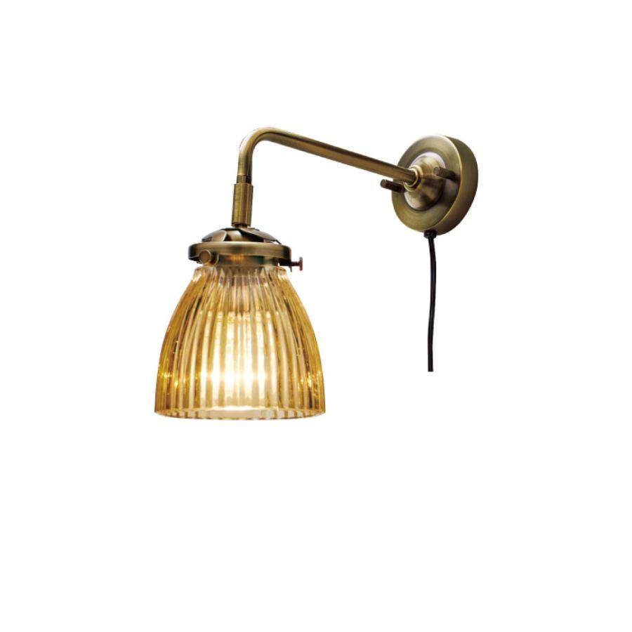 INTERFORM インターフォルム ロングブラケットライト ロングブラケットライト ルディ-BL- 小形LED電球 電球色 1つ付 ストライプアンバー LT-2496SA (新生活応援 おしゃれ 北欧)