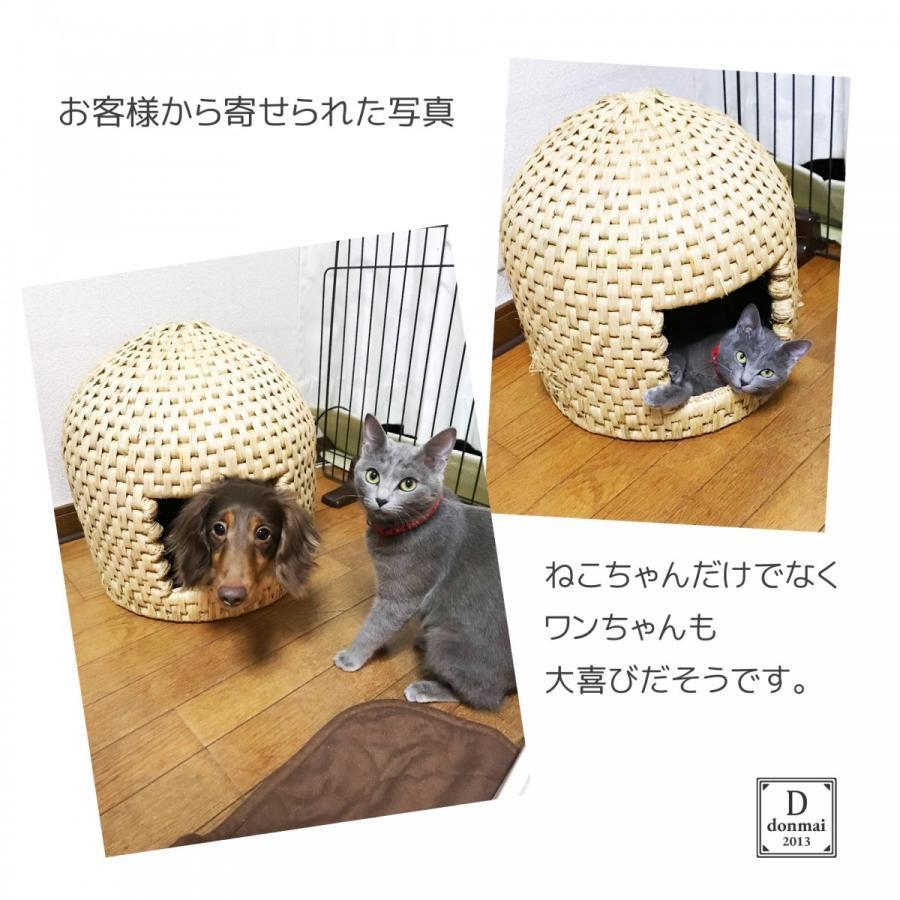 猫ちぐら キャットハウス 稲わら編み 手作り 送料無料|donmai|05