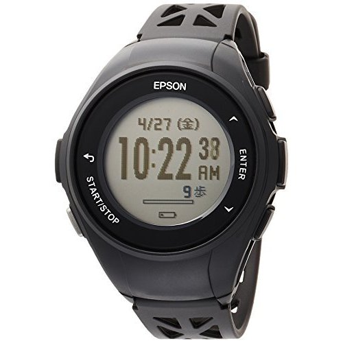 エプソン 腕時計 リスタブルジーピーエス GPSランニングウォッチ Q-10B ブラック