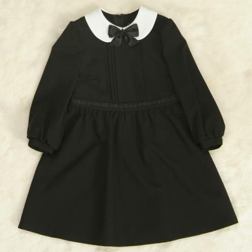 アウトレット 女児キッズフォーマルワンピース 110cm〜115cm 黒色