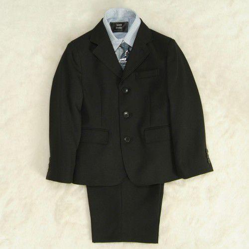 アウトレット  男の子スーツ5点セット チャコールグレー シャツカラーチェック 三つ釦タイプ 120cm