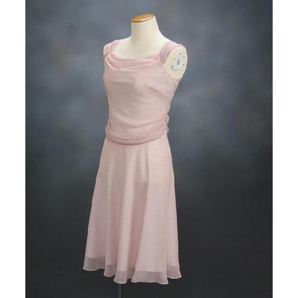 フォーマルドレス アウトレット品 ミドル丈 ピンク サイズ9号 結婚式 二次会 同窓会 成人式 パーティーにも最適
