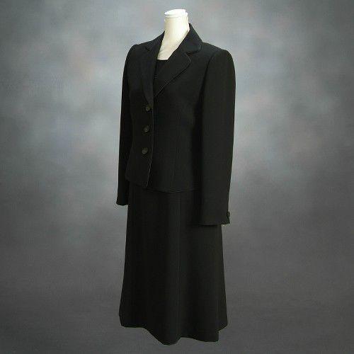 ブラックフォーマルスーツ 喪服 礼服 アウトレット品 アンサンブル2点セット サイズ7号 NO453