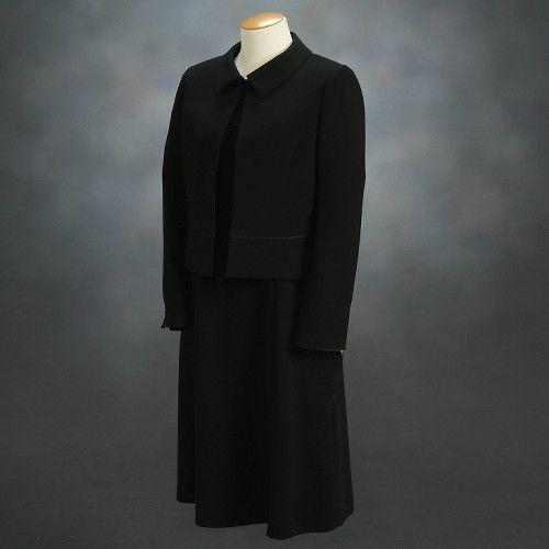 ブラックフォーマルスーツ 喪服 礼服 アウトレット品 アンサンブル2点セット サイズ13号