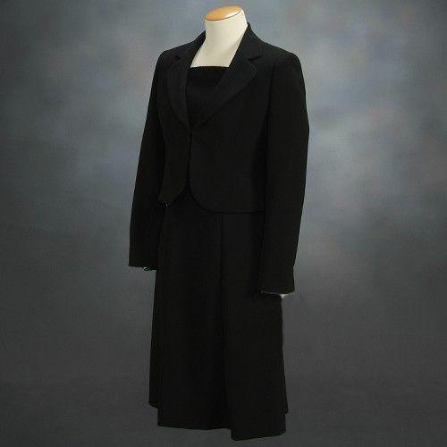 ブラックフォーマルスーツ 喪服 礼服 アウトレット品 アンサンブル2点セット サイズ11号