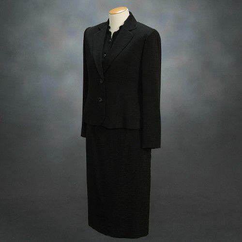 ブラックフォーマルスーツ 喪服 礼服 アウトレット品 スリーピースセット サイズ13号 日本製