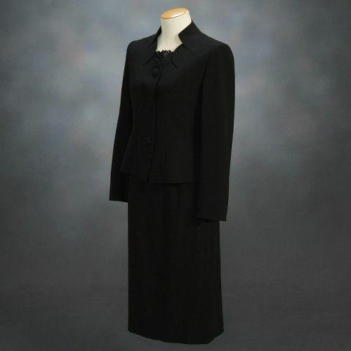 ブラックフォーマルスーツ 喪服 礼服 アウトレット品 スリーピースセット サイズ9号