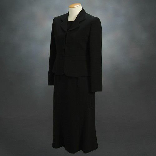 ブラックフォーマルスーツ 喪服 礼服 アウトレット品 スリーピースセット サイズ7号