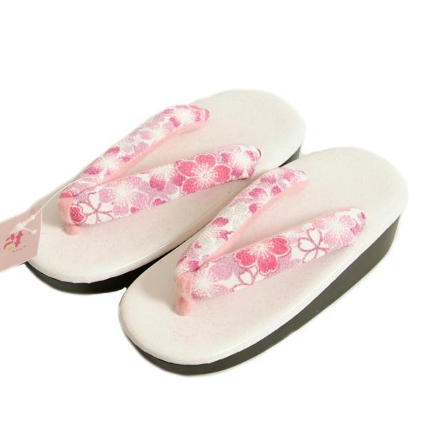 七五三 草履単品 3〜5歳用 ピンク 牡丹菊 中サイズ 箱なし アウトレット品