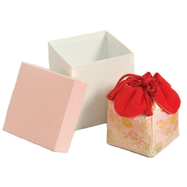 七五三 きんちゃく単品 巾着 3歳 7歳 ピンク地色 友禅文様 日本製