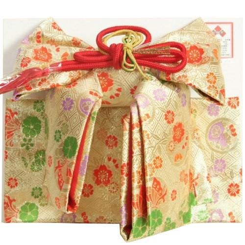 七五三着物用祝い帯 7歳用 ベージュゴールド 桜 揚羽蝶 飾り紐付き 大サイズ 日本製