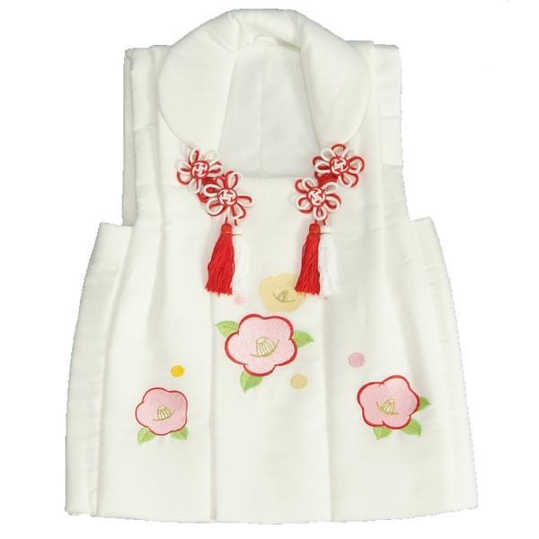 七五三 被布 着物 3歳 白 光琳椿刺繍使い 七五三 ひな祭り お正月